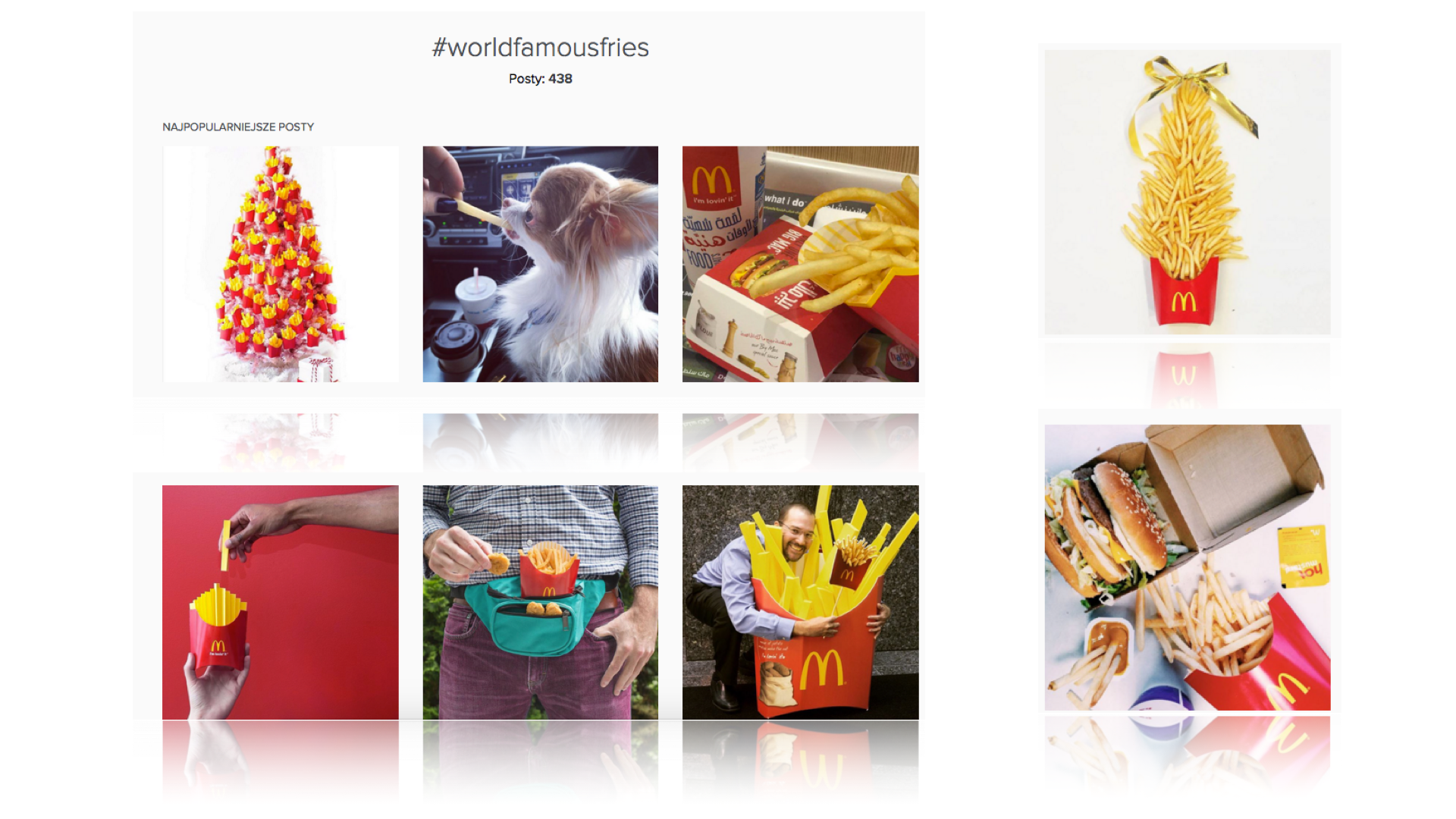 #WorldFamousFries, McDonald's