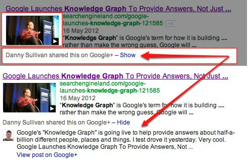 Google Plus Snippet