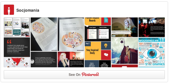 Socjomania ProfileWidget do Pinterest