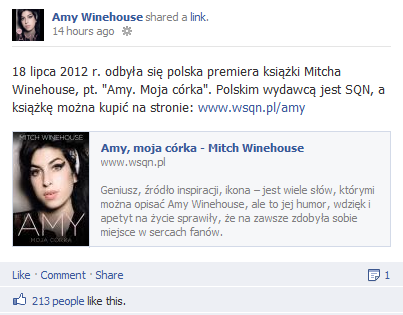 amy winehouse facebook