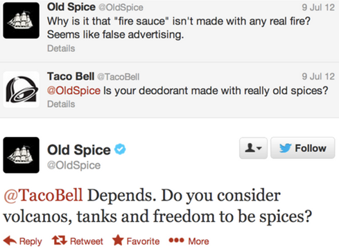 Old Spice i Taco Bell na Twitterze